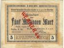 """Städte Großgeldscheine - Banknoten Während Der Inflationszeit V. 1923 Gerthe 5 Millionen  """"NOTGELD"""" (202) - [ 3] 1918-1933 : Weimar Republic"""