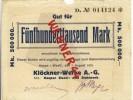 """Städte Großgeldscheine - Banknoten Während Der Inflationszeit V. 1923 Wetter 500000  """"NOTGELD"""" (204) - 1918-1933: Weimarer Republik"""