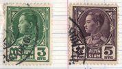 Siam: Année 1928,Série ,« Effigie De Prajadhipok» ,N° 194 à 197 Et 199 à 200,(7 Timbres) - Siam
