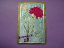 CPA FANTAISIE - Souvenir D´Amitié - Oeillets, Fleurs En Tissu En Relief, Découpis, Collage, Embossed - SUPERBE - Botanik
