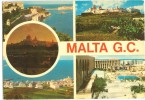 MALTA, G.C. Multi View, Used Postcard [10022] - Malta