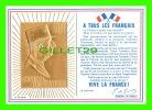 HISTOIRE - GÉNÉRAL CHARLES DE GAULLE - EFFIGIE EN OR 24 CARATS - TEXTE À TOUS LES FRANÇAIS - ÉDITÉ PAR PIERRE MARIOTTE - - Histoire