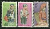 """Laos         """" Hunter """"    Set    SC# C43-45  Mint - Laos"""