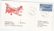 BELGIE HERDENKINGSENVELOP LAATSTE VLUCHT VD SV 4b TWEEDEKKER TIENEN 1978 MET HANDTEKEN VLIEGENIER RAES - Cartas Commemorativas
