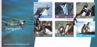 New Zealand 2001- Penguins  6 Values Compl.set On FDC- Nice Topcial Cover- Scarce-SKRILL PAYMENT   ONLY - New Zealand