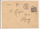 S395 - TAXE 30 Ctes  - 1889 - De TONNERRE Yonne à Destination De Flogny - - Marcophilie (Lettres)