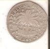 MONEDA DE PLATA DE BOLIVIA DE 2 SOLES DEL AÑO 1861  (COIN) SILVER,ARGENT. - Bolivia
