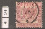 GERMANIA, 1862/66, BADEN, 3 KR. DENT. 10 - Baden