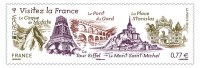 FRANCE Timbre Europa - Visitez La France 0,77€ - Autocollant Adhésif  2012 - Adhesive Stamps