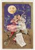 CHROMO Dorée Au Bon Marché J. Minot Au Clair De La Lune Mon Ami Pierrot Guitare Mandoline Brioches Pierrette - Au Bon Marché