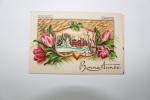 Carte Bonne Année - Thème Chateau Enneigée - Année 1950 - Neujahr