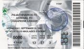 Panathinaikos Vs Arsenal FC/Football/UEFA Champions League Match Ticket - Tickets D'entrée