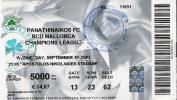 Panathinaikos Vs RCD Mallorca/Football/UEFA Champions League Match Ticket - Tickets D'entrée