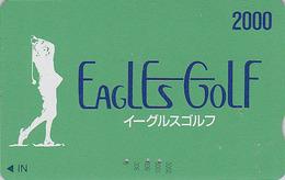 Carte Prépayée Japon - Sport - EAGLES GOLF / 2000 - Japan Sports Prepaid Member´s Card - 358 - Sport