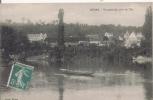 MEDAN VUE GENERALE PRISE DE L'ILE (HOMME SUR BARQUE) 1910 - Medan