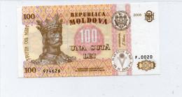 Moldova, 100 Lei, 2008, Ex-USSR, P-15-New, Vf - Moldavie