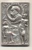 GENERAL DOCTOR BENJAMIN VICTORICA EN EL 80 ANIVERSARIO DE SU NATALICIO 1831-14 DE SEPTIEMBRE - 1911 RECTANGULAR PLATA SI - Tokens & Medals