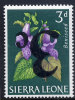 SIERRA LEONE GIBBONS N° 315a** FLEUR SURCHARGE RENVERSEE COTE GIBBONS: 140 LIVRES (160 EUROS) - Sierra Leona (1961-...)