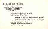 Visitekaartje   L.D. Dhooge Brugge - Oostkamp - Cartes De Visite