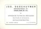 Visitekaartje  Jos Deschuymer - Oeselgem - Olsene - Cartes De Visite