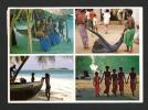 Maldives - Village - Pêcheur Et Enfants - Photos Par Michael Friedel - Dos écrit Et Timbré En 1984 - Maldives