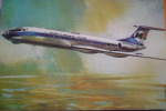 MALEV  TU 134     AIRLINE ISSUE - 1946-....: Moderne