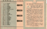 Calendrier/Loterie Nationale/Mois D´Avril/1946                           CAL31 - Calendriers