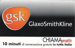 *CHIAMAGRATIS - N.236 - GSK - GLAXO SMITH KLINE* - Scheda Usata (DT) - Unclassified