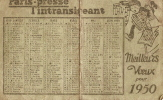 Calendrier /Paris-Presse:L´Intransig Eant/1950                         CAL33 - Calendriers