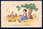 Le Gland Et La Citrouille - Humour Illustration Champêtre Village - Dos Vierge - Excellent état - Brasilien
