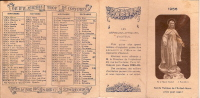 Calendrier  Quatre Volets/Les Orphelins Apprentis D´AUTEUIL/1958        CAL43 - Unclassified