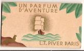 Calendrier Parfumé /Parfum/LT PiverUn Parfum D´Aventure/Paris//1933       CAL49 - Calendriers
