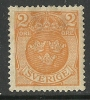 SCHWEDEN Sverige Sweden 1910 2 öre Wappe Coat Of Arms Michel 58 * - Neufs