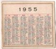 Calendrier Simple /Recto-Verso//1955      CAL51 - Calendriers