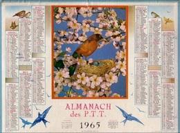 ALMANACH DES POSTES 1965 - COMPLET FORMAT SIMPLE CARTON - GARD. - Calendars