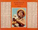 ALMANACH DES POSTES 1970 - COMPLET FORMAT DOUBLE CARTON -PARIS - AVEC TRES GRANDE CARTE. - Calendars