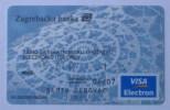 ZAGREBACKA BANK VISA Electron (Croatian Credit Card) Carte Bancaire Tarjetas Bancarias Carta Bancaria Banque Banco Banca - Unclassified