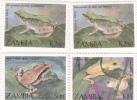 Zambia 1989 Frogs  MNH - Zambia (1965-...)