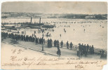Switzerland Postcard Geneve La Rade Gelee Sent To Lucerne Ambulant 25-1-1902 (weak Corners) - GE Geneva