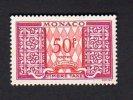 Monaco - Taxe N°38A  - 50 Francs Lilas Et Rouge * (petite Trace De Charnière) - Postage Due