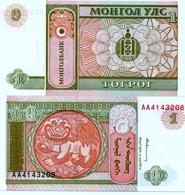 MONGOLIA 1 TUGRIK  GENGHIS KHAN UNC - Mongolie