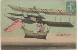 CPA FANTAISIE AVIATION - AVION - BONJOUR DE RENNES - Avions