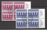 Schweiz 1984, Europa, MiNr. 1270-71, Viererblöcke, Zentrischer Ersttagsstempel - Used Stamps
