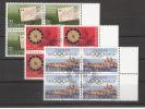 Schweiz 1984, MiNr. 1267-69, Viererblöcke, Zentrischer Ersttagsstempel (2 - Used Stamps