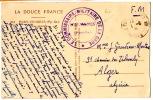 CP En FM De Port Vendres Pour L'Algérie (31.7.1940) - Marcophilie (Lettres)