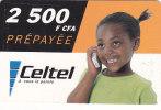 Gabon, Celtel, 2 500 F CFA, Girl, 2 Scans. - Gabon