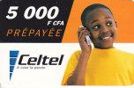 Gabon, Celtel, 5 000F CFA, Boy, 2 Scans. - Gabon