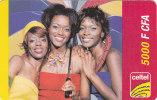 Gabon, Celtel, 2 500 F CFA, 3 Girls, 2 Scans. - Gabon