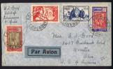 1936  Lettre Avion Pour Les USA  Yv 139, 141, 157, 158 - Cameroun (1915-1959)