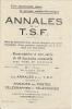 """1926 Pub Encyclopedie   """" ANNALES De La T. S. F. """"   Avec Bulletin Souscription Et Bulletin Commande - Radio & TSF"""
